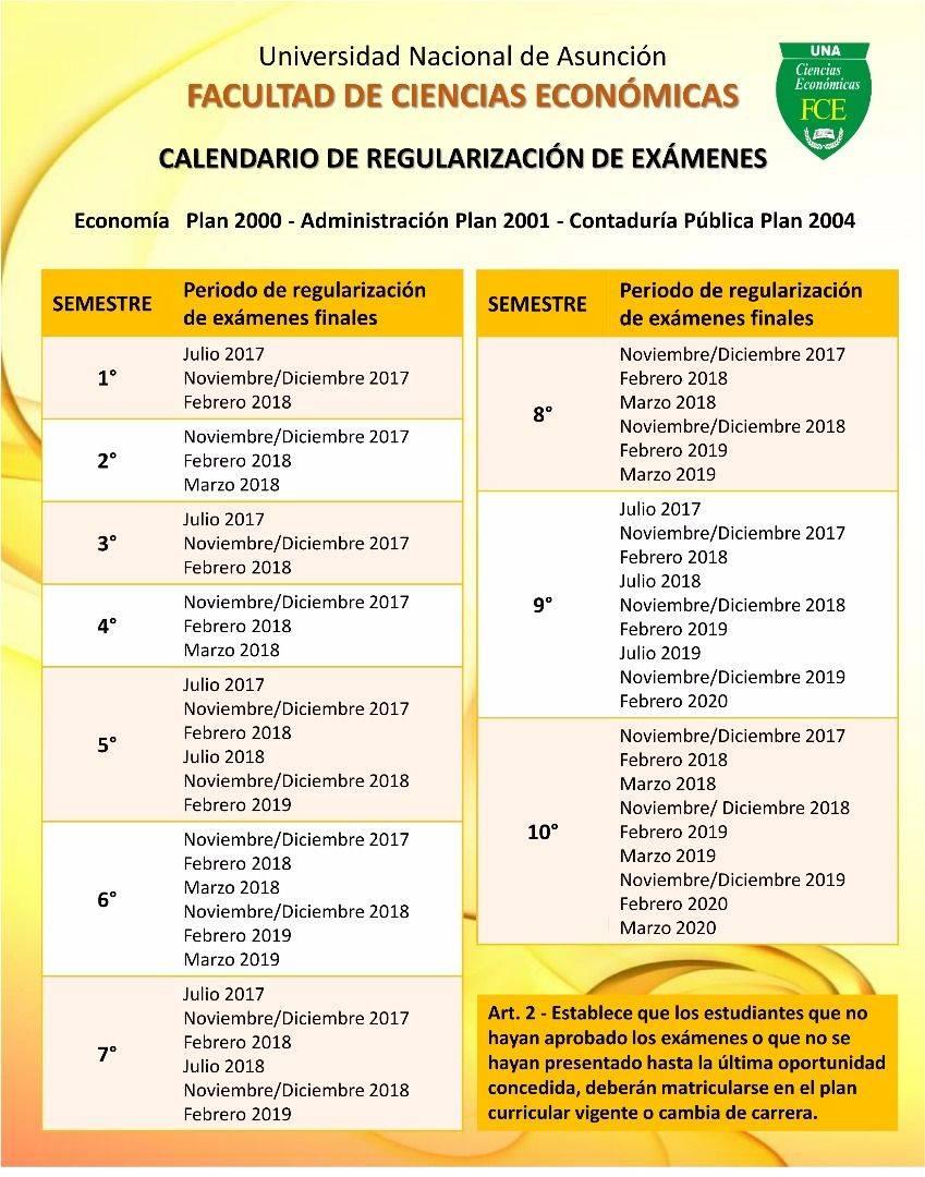Calendario Julio Del 2000.Facultad De Ciencias Economicas Una Calendario De